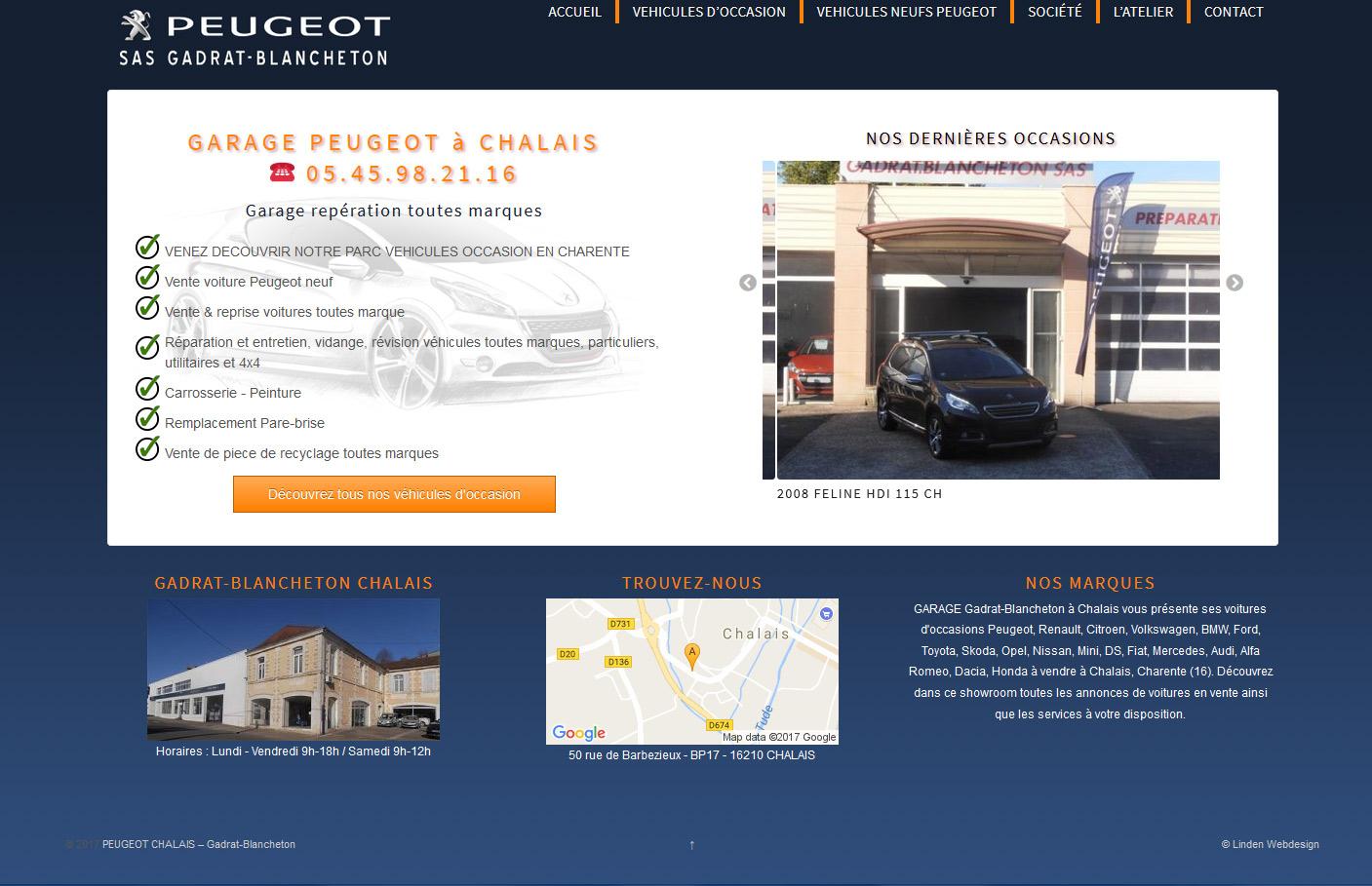 Site garage peugeot
