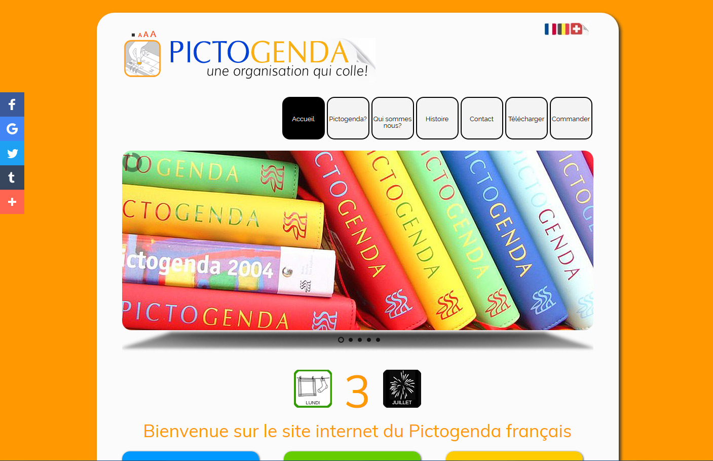 Site editeur pictogenda